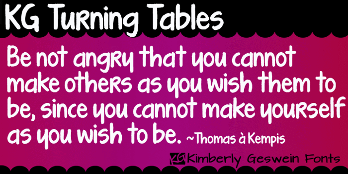 KG Turning Tables Font poster
