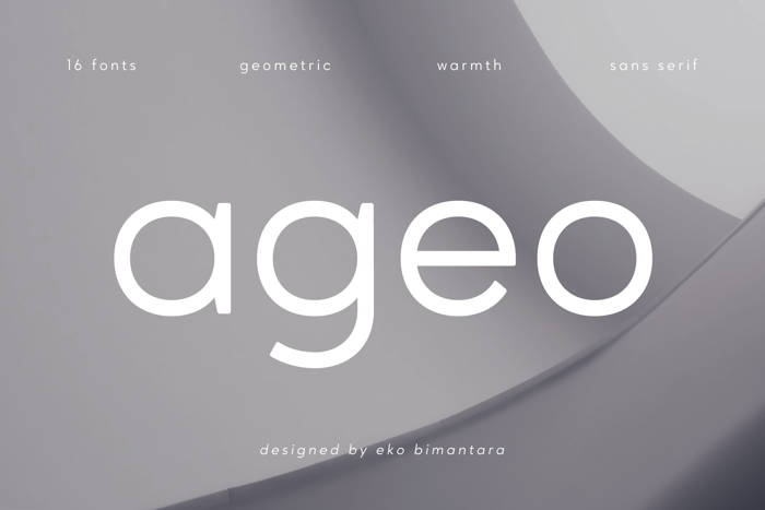 Ageo Font poster