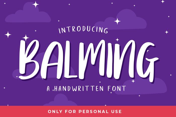 Balming Font poster