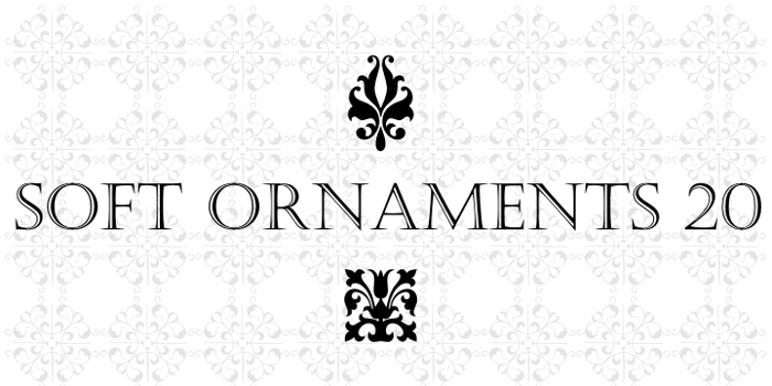 Soft Ornaments Twenty Font poster