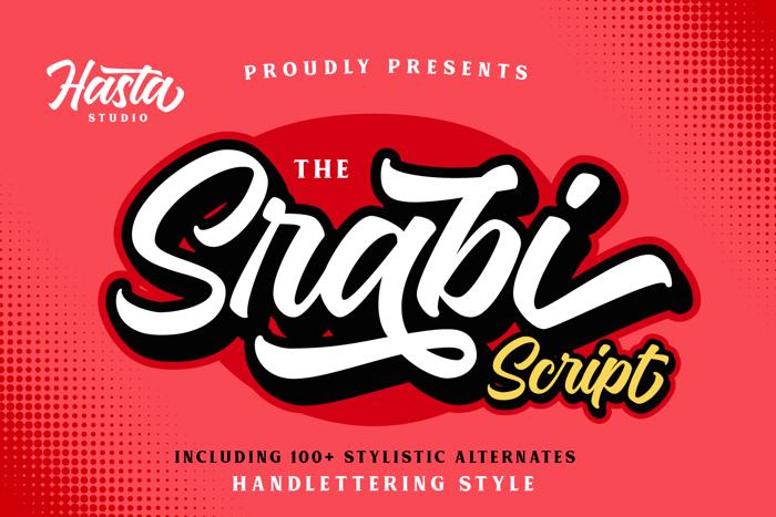 Srabi Script Font poster