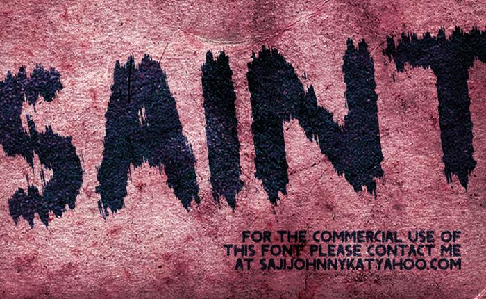SAINT Font poster