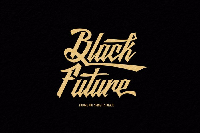 Black Future Font poster