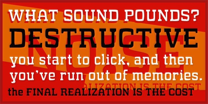 WHAT SOUND POUNDS? Font poster