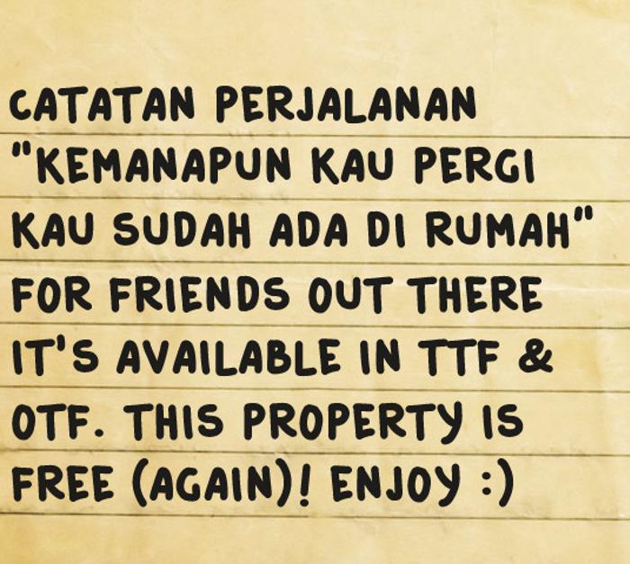 Catatan Perjalanan Font poster