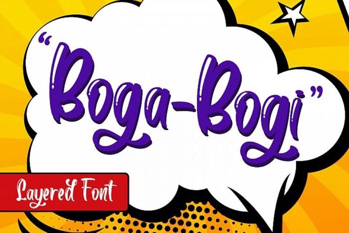 Boga -bogi Font poster