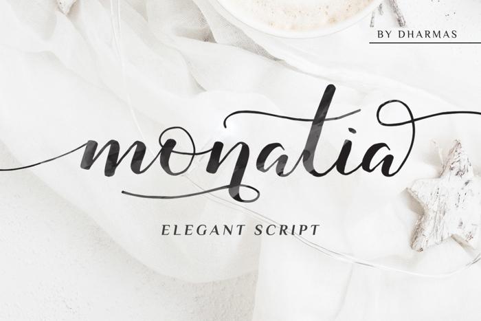 Monatia Font poster