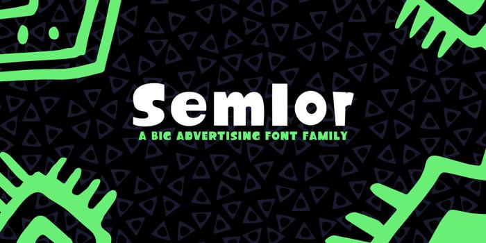 Semlor Font poster