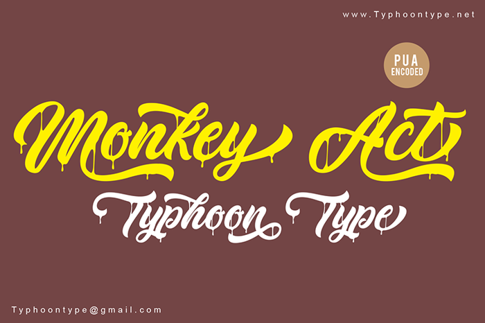 Monkey Act Font poster