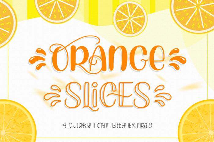 Orange Slices Font poster