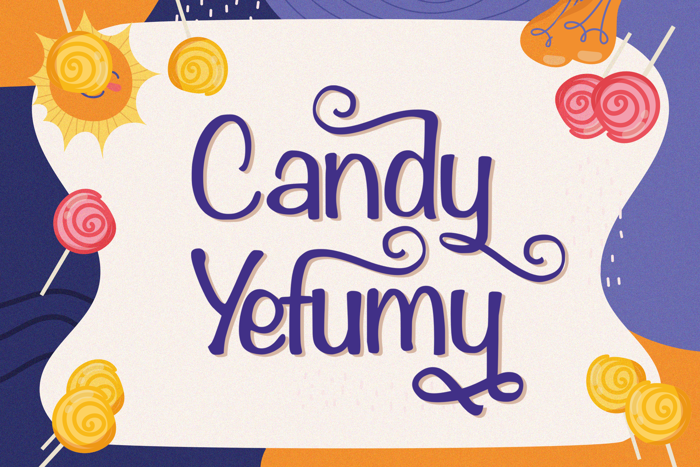 Candy Yefumy Font poster
