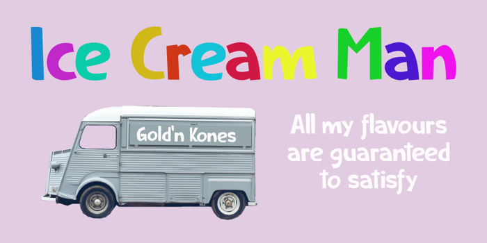 Ice Cream Man DEMO Font poster