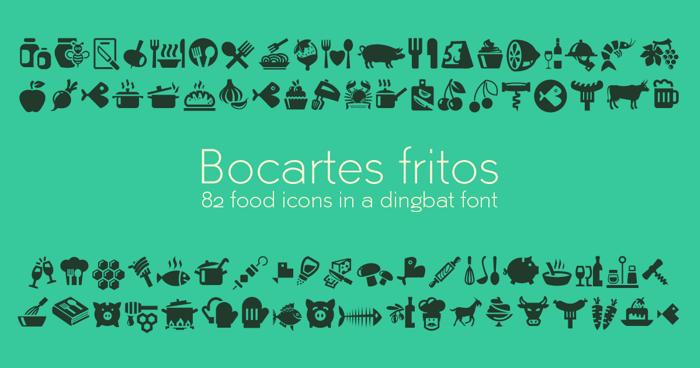 Bocartes fritos Font poster