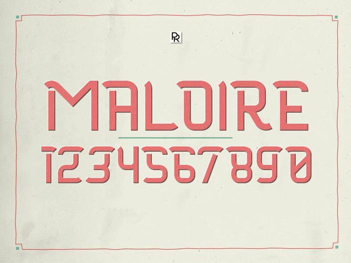 Maloire Font poster