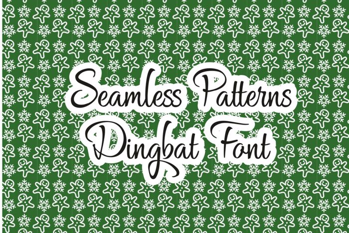 Seamless Patterns Font poster