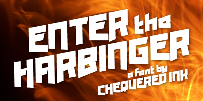 Enter the Harbinger Font poster