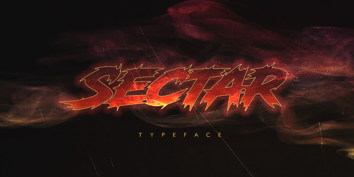Sectar Font poster