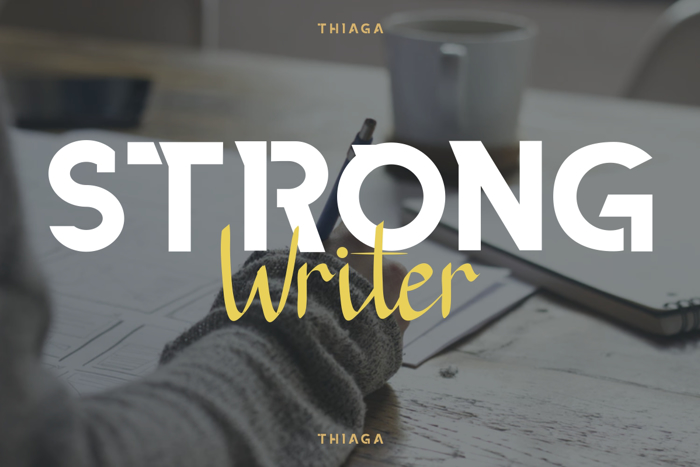 THIAGA Font poster