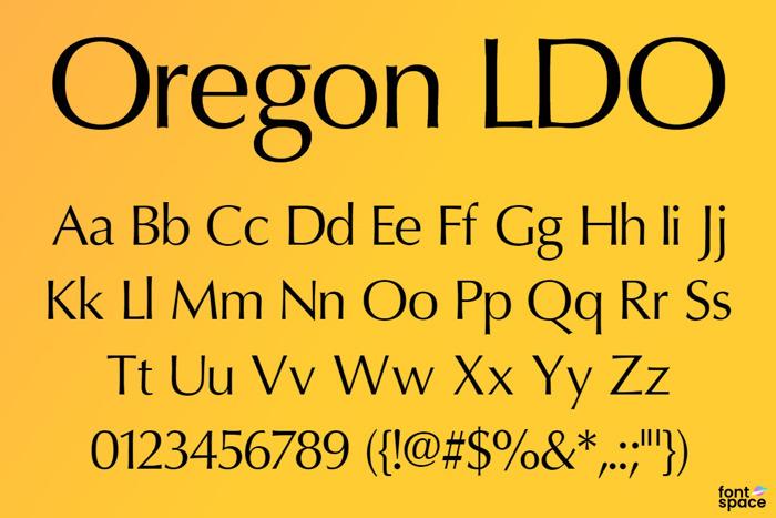 Oregon LDO Font poster