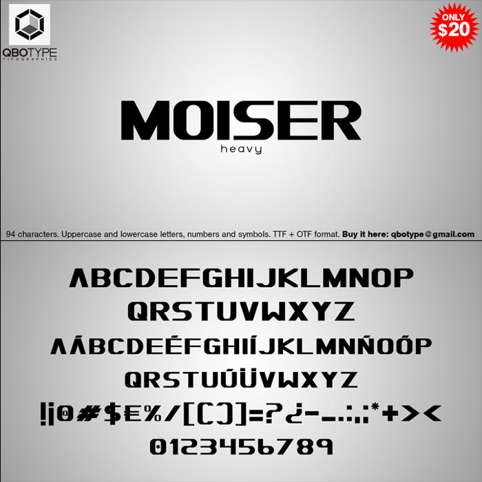 Moiser heavy Font poster