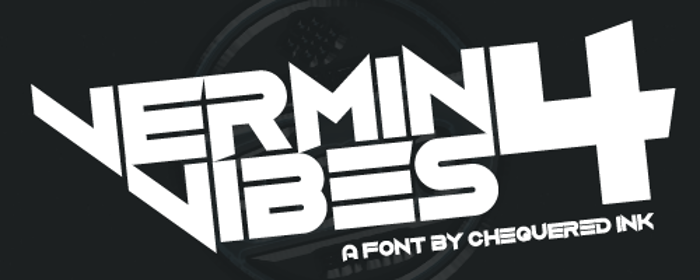 Vermin Vibes 4 Font poster