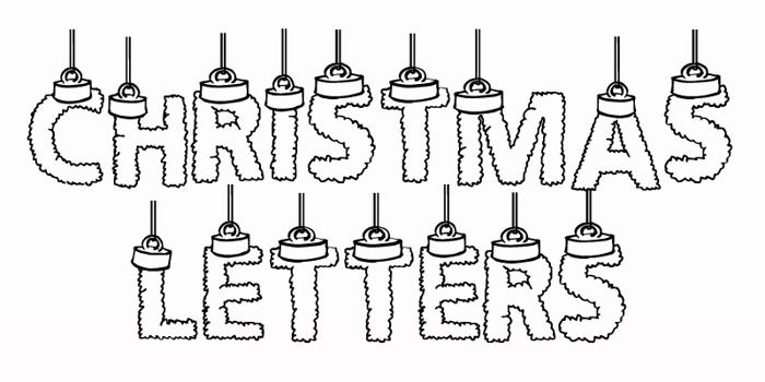 CF Chritsmas Letters Font poster