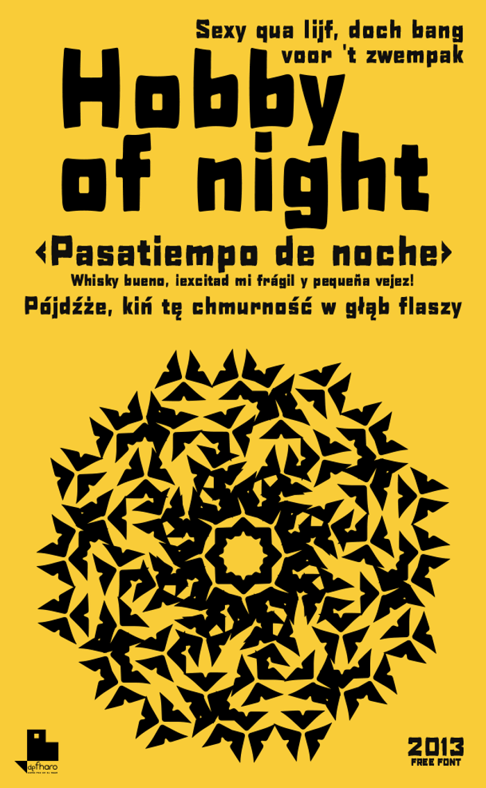 H0bby of night Font poster