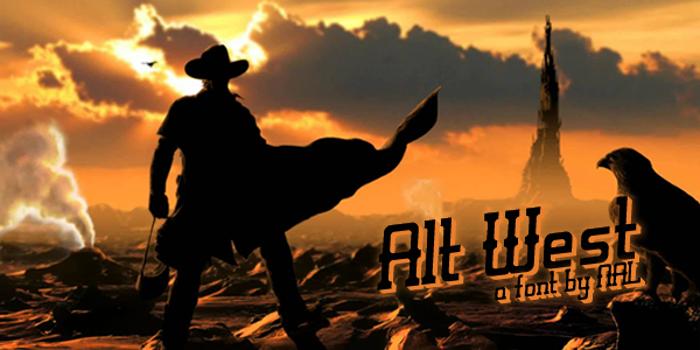 Alt West Font poster