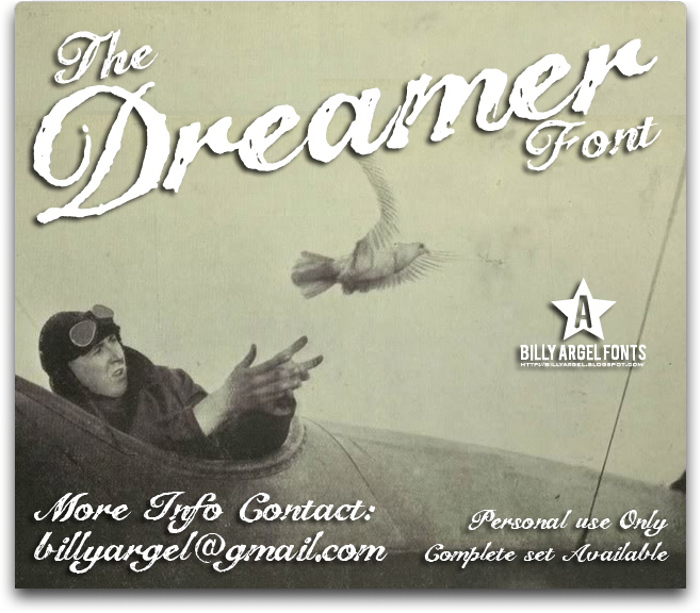 The Dreamer Font poster