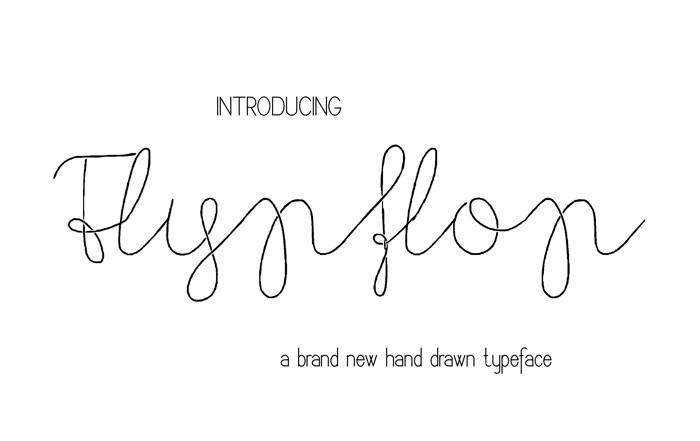 Flypflop Font poster