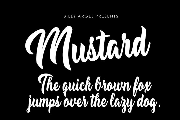 Mustard Font poster