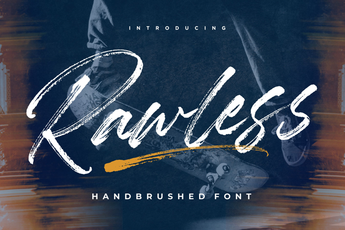 Rawless Font poster