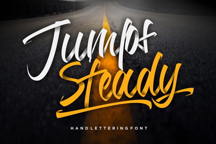 Jumps Steady Font poster