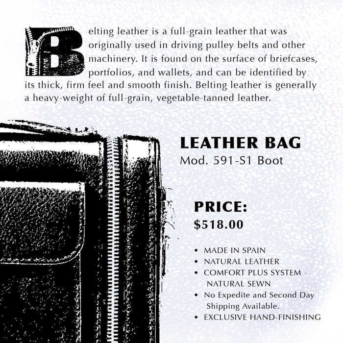 Leather Font poster