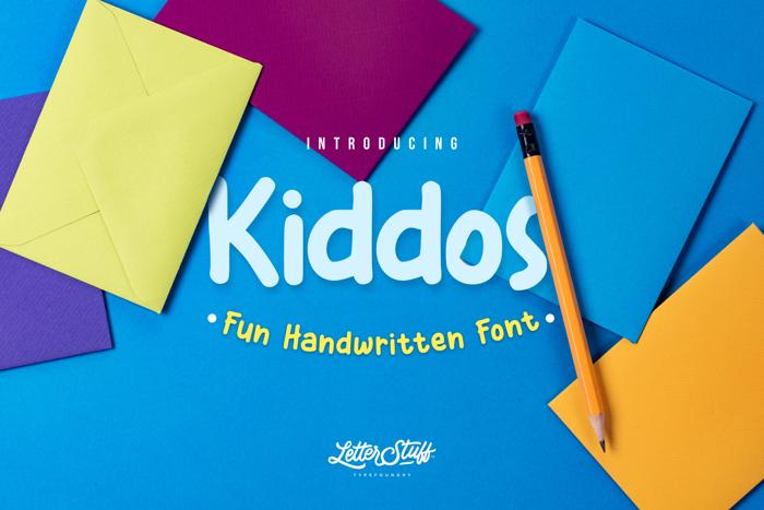 Kiddos Font poster