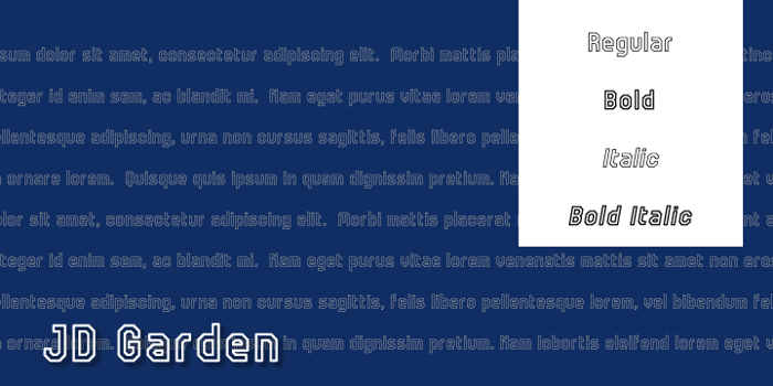JD Garden Font poster