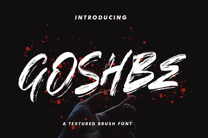 GOSHBE Font poster