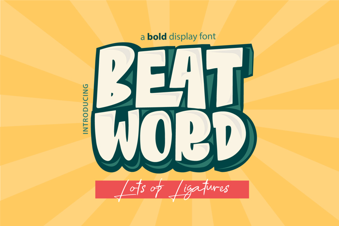 Beat Word Font poster