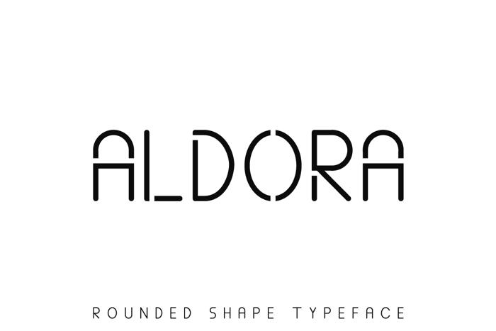 ALDORA Font poster