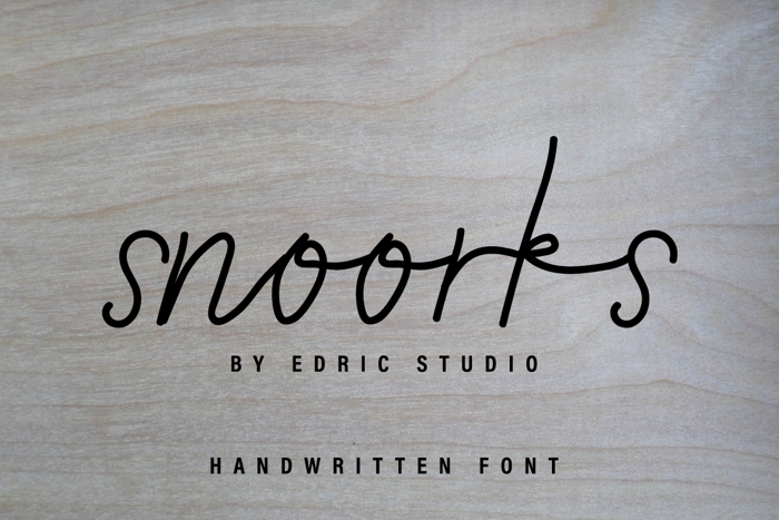 Snoorks Font poster