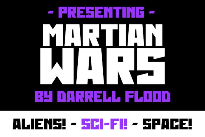 Martian Wars Font poster