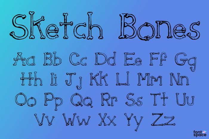 Sketch Bones Font poster
