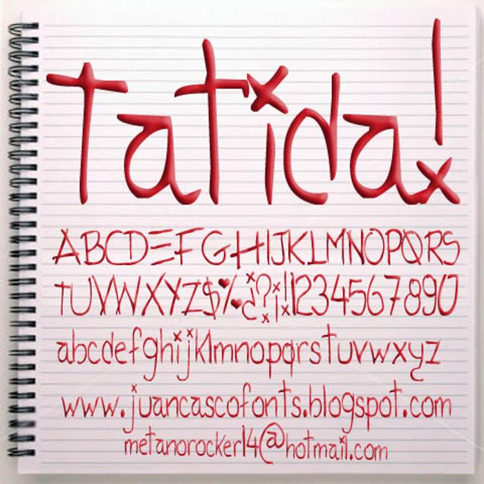 Tatida!  Font poster