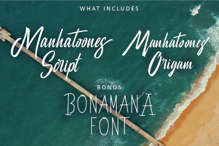Manhatoones Script Font poster