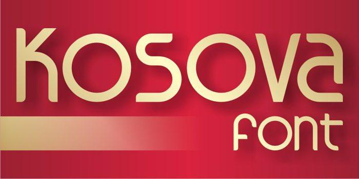 Kosova Font poster