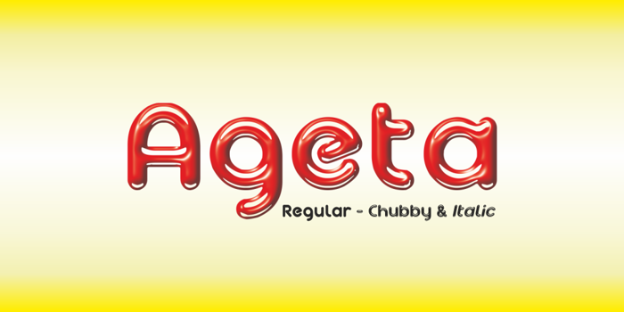 Ageta Chubby Demo Font poster
