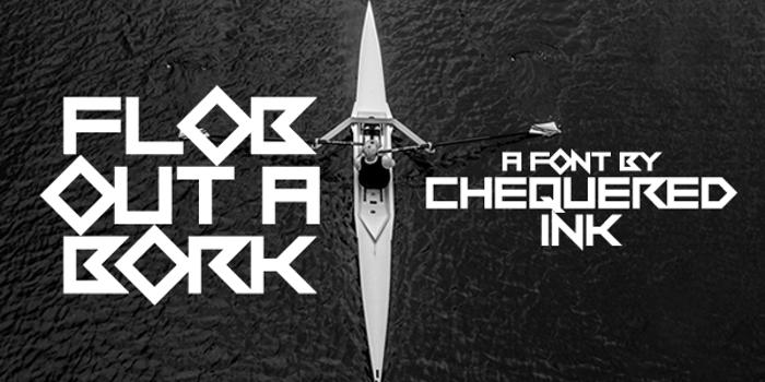 Flob Out a Bork Font poster