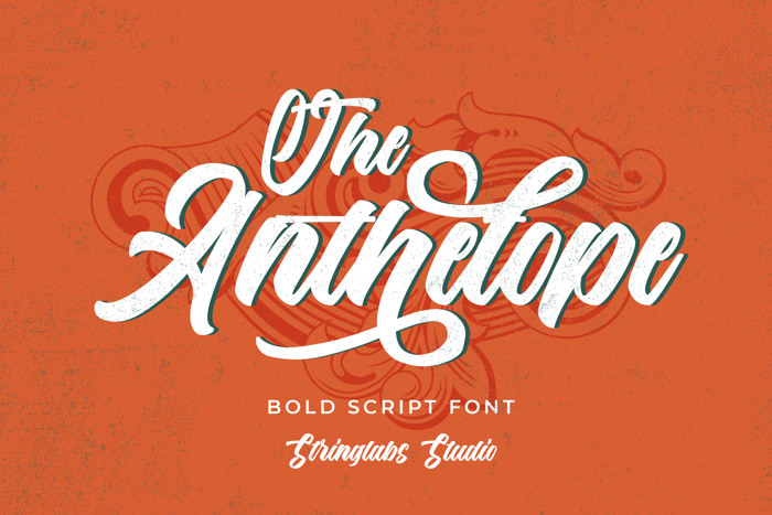 The Anthelope Font poster