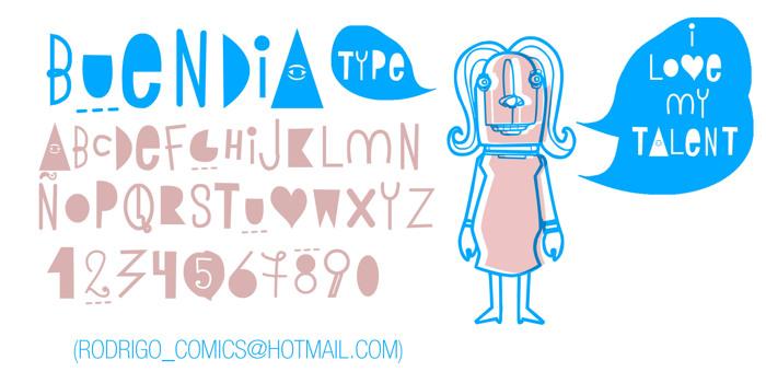 BUEN DIA Font poster