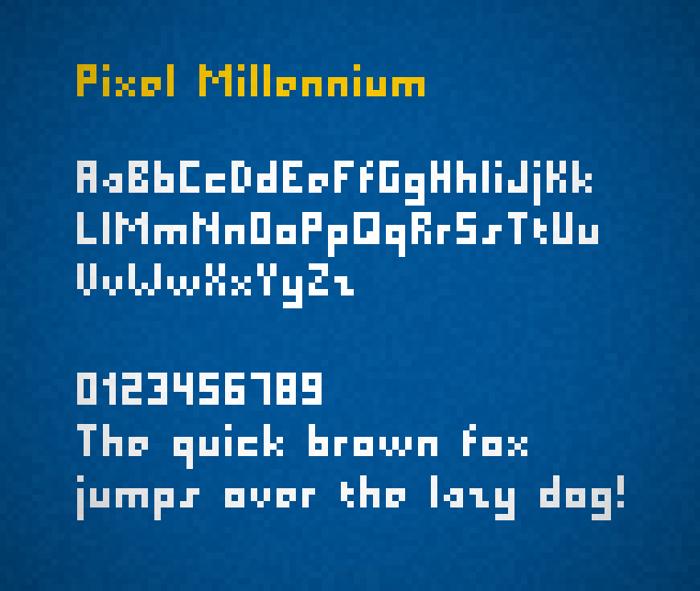 Pixel Millennium Font poster